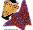 Set of 3 Bandana Bibs with with Various Color Prints for Girls