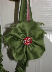 Dark Olive Green Floral Headband