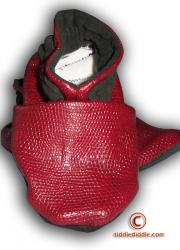 Red Handmade Leatherette Baby Shoes (6-12 months old)-II