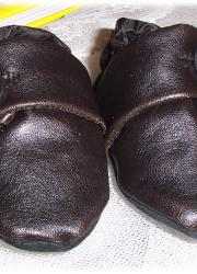 Leatherette Handmade Baby Shoes, Brown (6-12 months)