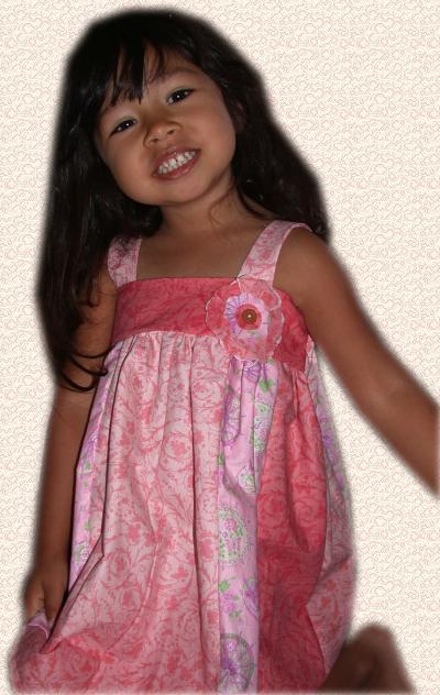 Handmade Girl's Pink Dress