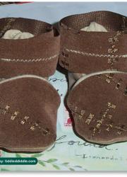 Girl's Handmade Infant Booties (0-3 months), Tan/Brown