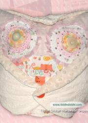 Set of Owl Pillow (Pillow and an Owl Pillowcase): Vanilla