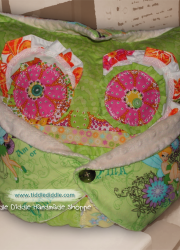 Set of Owl Pillow (Pillow and an Owl Pillowcase): Custard