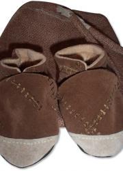 Ultrasuede Handmade Baby Shoes, Brown (12-18 months)