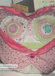 Set of Owl Pillow (Pillow and an Owl Pillowcase): Pinka