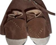 Ultrasuede Handmade Baby Shoes, Brown (12-18 months)