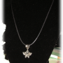 Set of Black Necklace with Tibetan Silver Butterfly Pendant